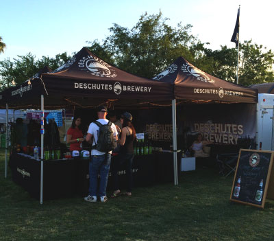Deschutes Brewery Tent at MMMF