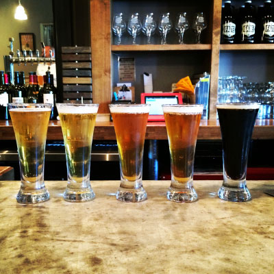 Beer Flight at Fate Brewing Co